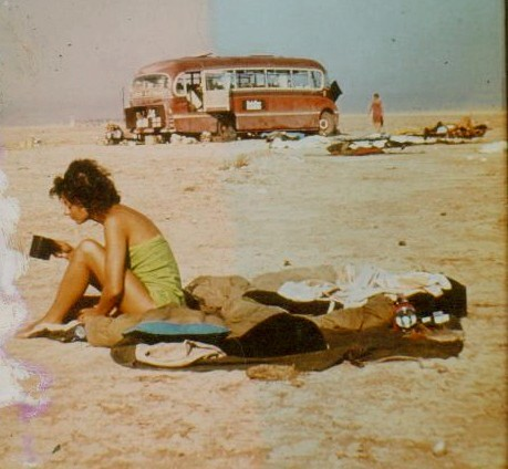 Asiabus and Kami on Iran/Iraq border 1966 / Rory MacLean