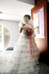 Wedding of College Schoolmate - Anchi Chang (*Yueh-Hua 2016) Tags: canon eos catholic taiwan catholicchurch tamron  30d   a16 taipeicounty   canonspeedlite430ex canoneos30d verticalphotograph  tamronspaf1750mmf28xrdiii   2007august   sindiancity anchichang collegeschoolmate