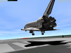 STS-118 Landing in Orbiter