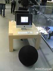 A cool seat for using the iMac - Glasgow Apple Store (Rick Curran) Tags: apple mac glasgow applestore