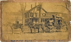 The Stage Carries More Cargo Than People (Bodie Bailey) Tags: family horses hotel blackwhite vermont newhampshire 1904 stagecoach historicalphotography charleswarrencarpenter