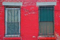 Bars on the Windows (podolux) Tags: windows red philadelphia window nikon bars pennsylvania pa philly fairmount nikkor 18200 mycity phila cityofbrotherlylove windowbars d40 cityofphiladelphia corinthianst