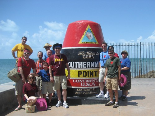 The gang at the Southernmost Point of the US