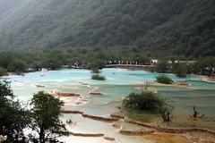 Huanglong, China (EmmaJG) Tags: china blue mountain lake water pool pond asia natural unesco pools limestone szechuan songpan  sichuan ponds huanglong calcite    limestonepools