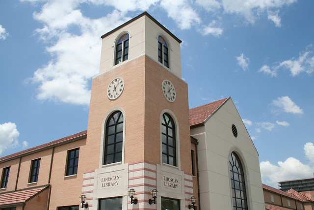 Looscan Neighborhood Library Clocktower by Houston Public Library