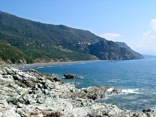 Village de Nonza et sa plage