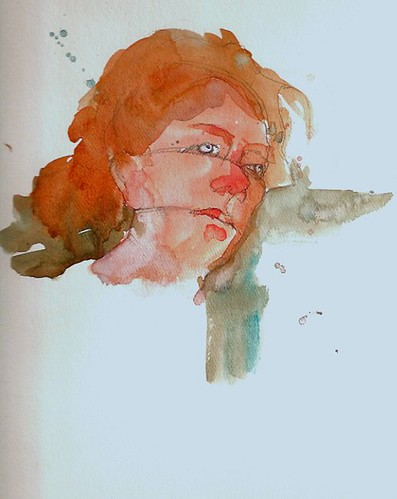Watercolor Painting - Portrait in the Charles Reid Style