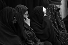 Iraqi women mourning (Samer M) Tags: girls blackandwhite portraits women veiled veil mourning muslim islam iraq crying young middleeast hijab arab muslims niqab karbala iraqi islamic arabs