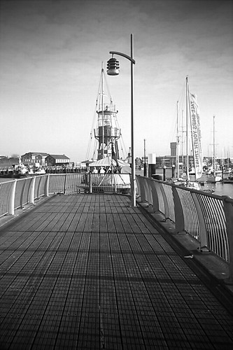 View Towards Gosport Harbour Marina Lightship