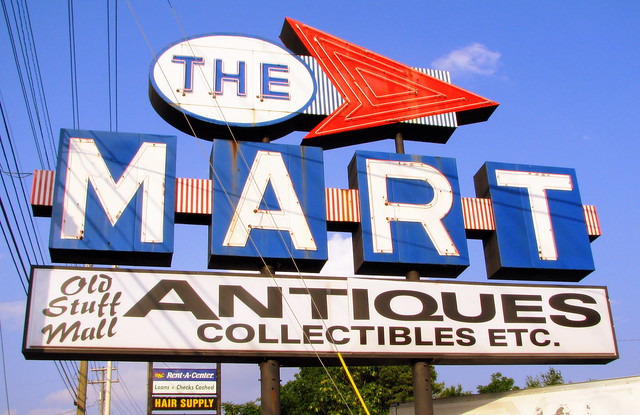 The MART neon sign