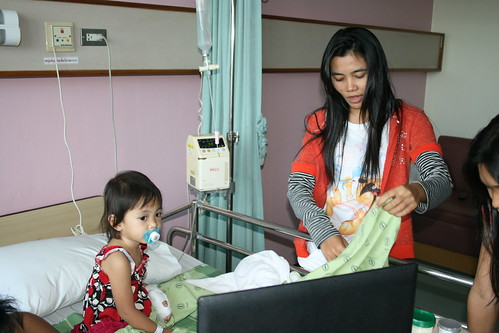 Nong Ja & Miss Noot in Hospital
