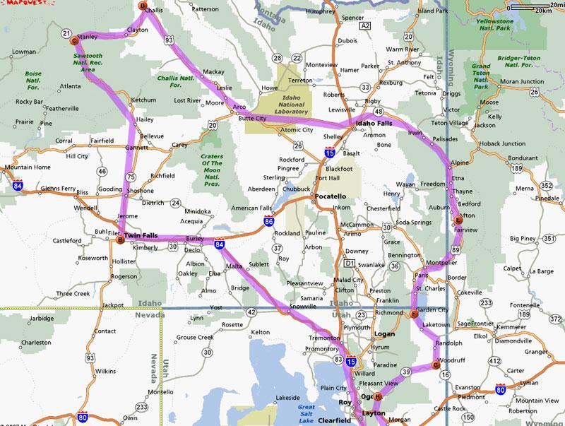 Trip Report Twin Falls Challis Idaho Falls Afton Bear Lake Etc