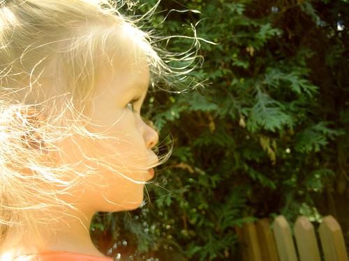 Vivian in the garden