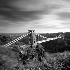 Clifton Suspension Bridge (Adam Clutterbuck) Tags: city uk greatbritain bridge england blackandwhite bw monochrome architecture river bristol square landscape blackwhite suspension kingdom bn elements gb gorge mon bandw sq avon clifton cliftonsuspensionbridge oe brunel isambardkingdombrunel isambard greengage adamclutterbuck sqbw bwsq showinrecentset openedition