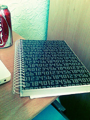 I'm getting a MoleSkin. (Su ) Tags: cameraphone photoshop notebook edited photoshopped numbers urbanacid