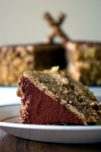 Coffee Walnut Cake with Coffee Mascarpone Cream