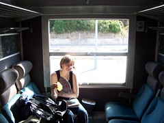 On board the train to Montdauphin-Guillestre