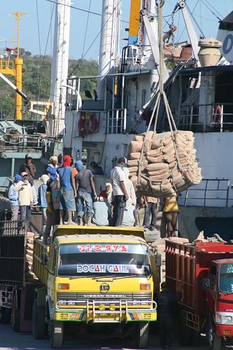 Unloading Flour, Kupang Harbour