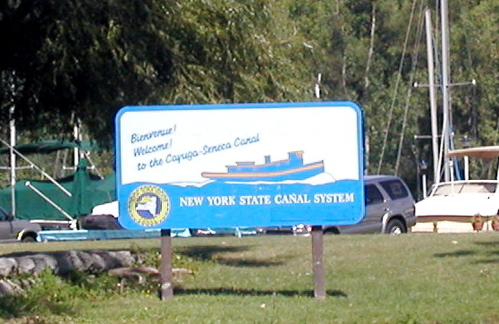 Canal welcome sign
