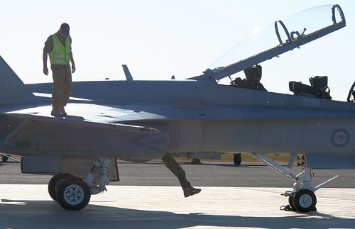 RAAF FA-18 - could have got out the canopy?