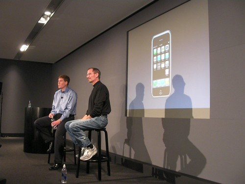 Steve Jobs, Apple and Matthew Key, CEO, O2