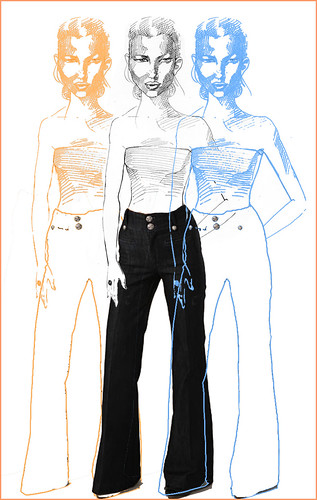 superfly rich and skinny jeans illustration