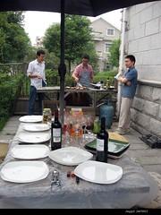 BBQ (jijis) Tags: china countryside shanghai weekend saturday bbq waitingforfood jianwei wangpeng zhoutao