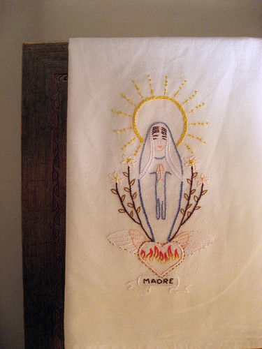 virgencita tea towel