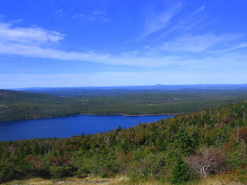 view from cadillac mountain ..the eagle lake