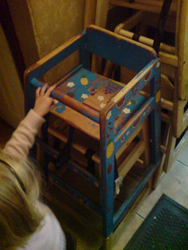 La Casita, Springville, Utah: handpainted restaurant high chair