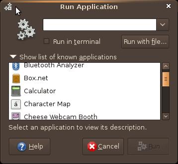 Screenshot-Run Application