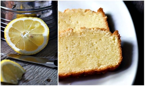 pound cake collage