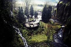 such great heights (alexis_aperture) Tags: people water oregon miniature little falls rivers streams foilage tiltshift everythinglooksperfectfromfaraway firsttiltshift