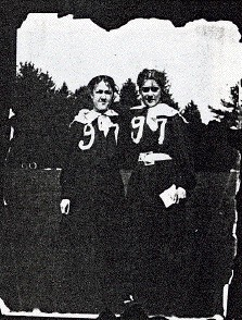 Ida Thallon and Bertha Cook, Field Day 1897