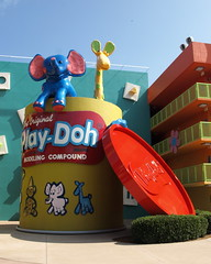 Giant Play-Doh (tim.perdue) Tags: world vacation lake statue century giant toy hotel compound florida modeling disney pop resort vista playdoh 1960s walt buena