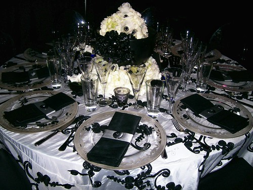 Black And White Wedding Table Decorations Reference Wedding Decoration