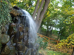 Water Fall (Duan Dobe) Tags: autumn tree fall water stone forest waterfall brook banister cascade