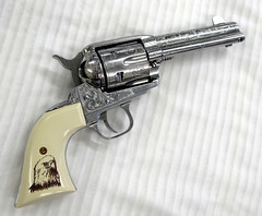 Ruger Vaquero (Rezz Guns (AZ GUNS-R-US)) Tags: pistol revolver handgun engraved stainless 45lc rugervaquero