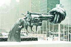Disarmament Sculpture (Twisted Revolver)