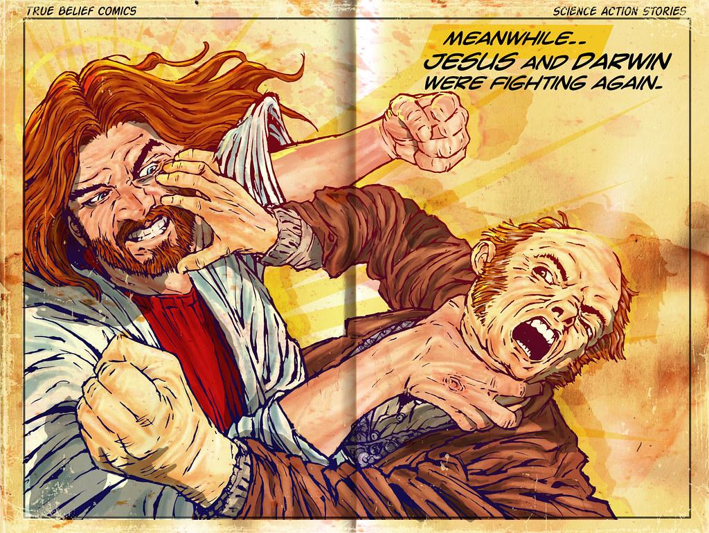 La eterna lucha entre Darwin y Jesús