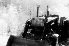 BW Tractor (life is developing) Tags: infraredfilm bwtractor