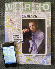 WIRED and cool! (jurvetson) Tags: apple magazine maps vanity july cover wired wiredmagazine 2007 iphone findyourself artimitatingart netpop artstreiber youareherethereeverywhere