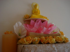 Lord Buddha Shrine Close-Up (patisotagami) Tags: statue shrine buddha pooja alter puja siddhartha gautama gotama lordbuddha buddharupa sonycybershotdscw55 siddhattha
