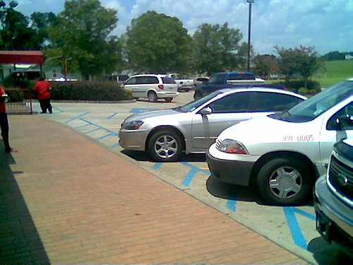 Accused of parking the library van in a handicapped spot! AS IF!