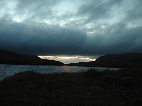 Loch nan Cnapan at sunset