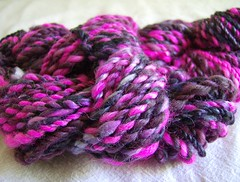 Handspun birthday yarn