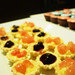 Pomelo and blueberry tarts