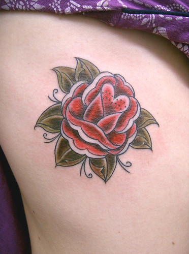Tatuagem rosa old school rose Tattoo