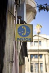 """Peyfon"" (marcviln) Tags: chile santiago payphone cognates espaol"