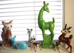 Deeries (Katey Nicosia) Tags: vintage ceramic deer collection